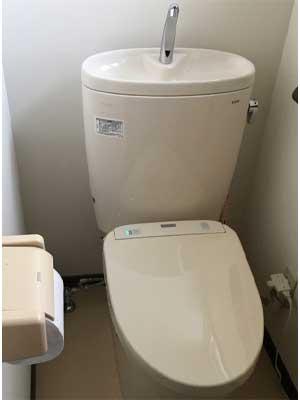 トイレ本体の故障 によるトイレつまり