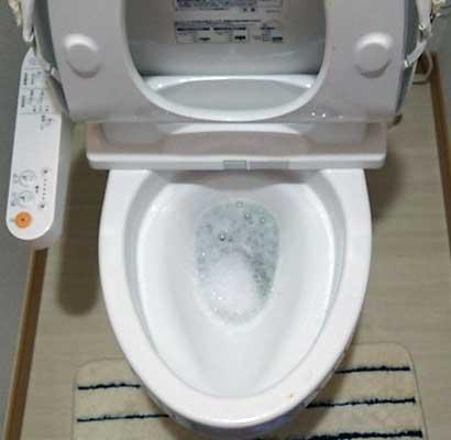 トイレの水を流してもトイレットペーパーが残る