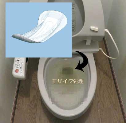 尿取りパッドを流した時のトイレつまり