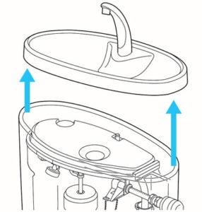 タンクのフタの開け方