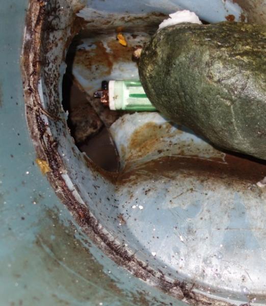 ライターがあるトイレ排水管