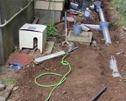 屋外排水マス交換