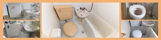 3点ユニットバスのトイレ交換