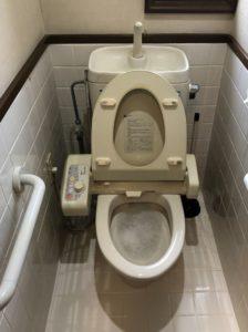 ナプキンが詰まったトイレの点検