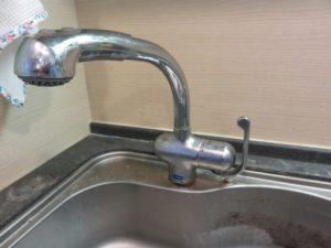 交換前キッチン水栓