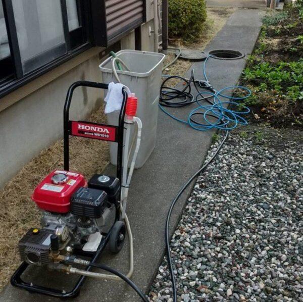 排水マス高圧洗浄機