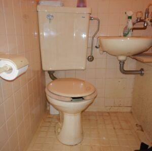 3点ユニット交換前トイレ
